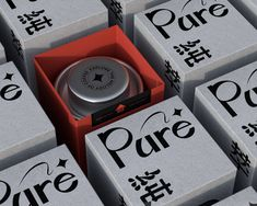 Pure 纯粹 on Packaging of the World - Creative Package Design Gallery Brand Fonts, Coffee Branding, Coffee Packaging, Wine Design, Layout, Design Department, Article Design, Grafik Design, Packaging Design Inspiration