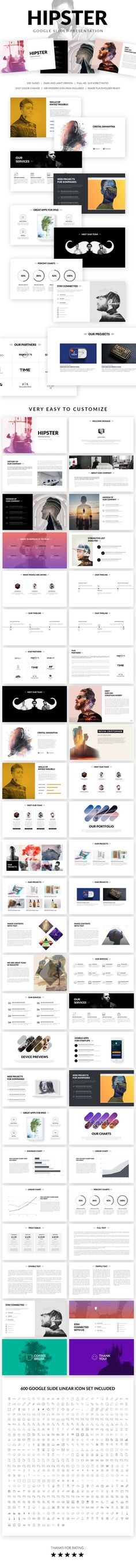 Hipster Google Slides Presentation Template Templates Point Free