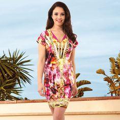 Kleid mit farbenfrohem Dessin-Print von Féraud