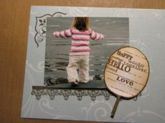 cute photo and simple design on this card...
