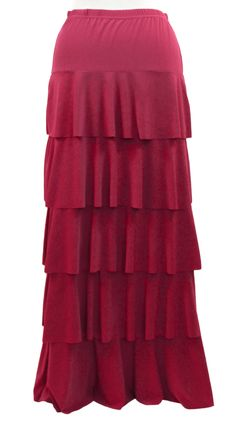 Our tiered ruffle skirt comes in three different colors and is on sale for just $35.00 right now at Deborah & Co.
