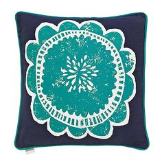 Scion Blue 'Taimi' cushion- at Debenhams Mobile