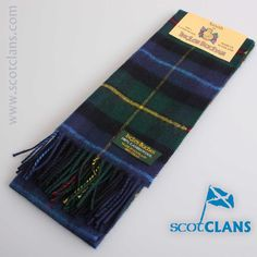 Smith Tartan Lambswool Scarf. Free worldwide shipping available