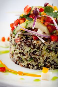TABULE DE QUINUA lime-scented quinoa salad with avocado, cotija cheese and olives