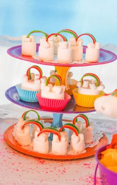 Marshmallow Cloud Rainbows from a Rainbow Unicorn Birthday Party via Kara's Party Ideas | KarasPartyIdeas.com (10)