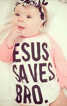 Raglan 'Jesus Saves Bro.' Vinyl Tee by DashForward on Etsy