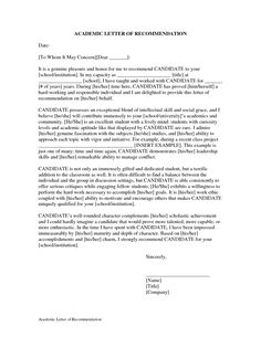 academic excellence letter of recommendation google search