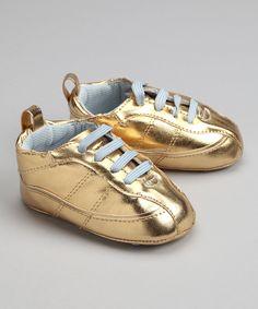 f769e9f9ae74 Trumpette Gold   Blue Sneaker