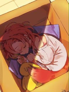 Baby fox Chuuya in a box..!!! *dying from too much cuteness*