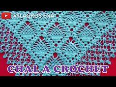 Shawl o Chal tejido a ganchillo o crochet en punto Piñas paso a paso con Borde punto Nudo de Solomon Crochet Shawl, Crochet Stitches, Free Crochet, Crochet Patterns, Crochet Dollies, Crochet Gifts, Pineapple Crochet, Crochet Bracelet, Crochet Videos