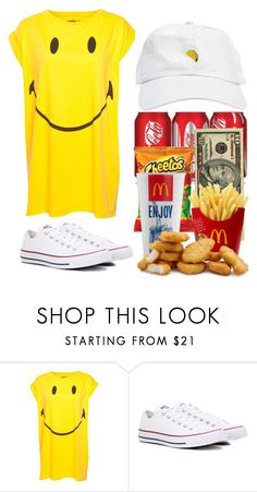 """IDC #2"" by casualbandgirl ❤ liked on Polyvore featuring Pull&Bear, Converse, teen and Random"