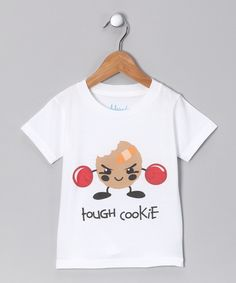 Take a look at this White 'Tough Cookie' Organic Tee - Infant & Toddler by Morado Designs on today! Organic Baby, Organic Cotton, Organic Cookies, Baby Kids, Baby Boy, Kids Outfits, Cute Outfits, Little Gentleman, Girl Scout Cookies