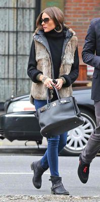 Olivia palmero's wearing for cold too!