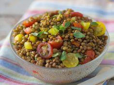 Salade de lentilles, facile et pas cher