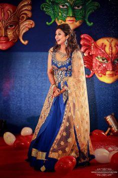 Bridal Wear - The Royal Bride! Photos, Hindu Culture, Beige Color, Sangeet Makeup, Sangeet Jewellery, Sangeet Outfit pictures, images, WeddingPlz