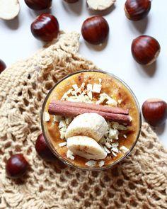 Jesień w smoothie↙↙ Dynia piżmowa/ banan/ śliwka/ cynamon/ kurkuma/ kasztany jadalne 💛 . #veganpoweroctober  Yummery - best recipes. Follow Us! #veganfoodporn