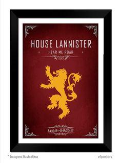 Poster House Lannister | Moldura preta ou branca R$55,00 | #efposters #efposters_oficial #posterpersonalizados #posters #quadros #postergameofthrones #gameofthrones #houselannister #got #lannister #posterGOT