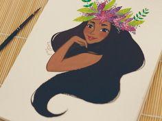 Hawaiian girl by Misspingu.deviantart.com on @DeviantArt