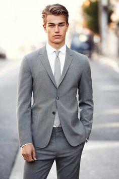 Love gray woman fashion, grey suits, fashion styles, wedding deserts, men outfits, men fashion, men suits, business suits, light