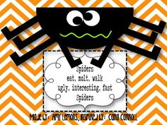 Spider Craft and Poem - Amy Lemons - TeachersPayTeachers.com