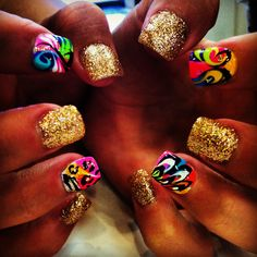 Crazy Nails #nails, #fashion, #pinsland, https://apps.facebook.com/yangutu