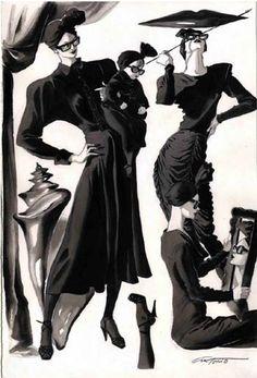 Inspiration: Retro designer Norma Kamali by Antonio Lopez 01 1985 illustration