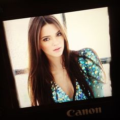 brown straight long hair on kendall jenner