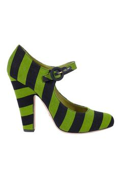 striped mary janes from Prada. I don't know if I could pull these off but they are so cute.