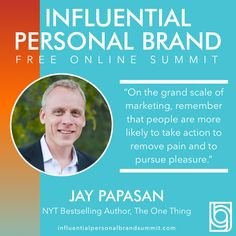 Today we have Jay Papasan! Jay Papasan is the #1 Wall St Journal bestselling author of The One Thing, which has sold over 1.5 million copies worldwide and been translated into 30 different languages. Jay is also Vice President and Executive Editor at Keller Williams Realty, Inc., the world's largest real estate company. Alongside his wife Wendy, he is also the co-owner of Papasan Properties Group in Austin, TX. Miss Nevada, Building A Personal Brand, Radio Personality, Brand Strategist, Keynote Speakers, Instagram Influencer, See On Tv, New Perspective, Personal Branding