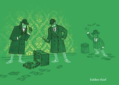"""""""Two Detectives, One Crime Scene, One Thief"""" - Threadless.com - Best t-shirts in the world"""