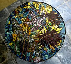 Star Search - Mosaic table top by shardArtist, via Flickr. Tide Pool