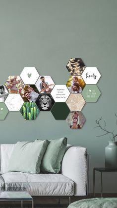 CusttomShapes® - die Fotowand, die mit deinen Erinnerungen wächst! Mit dem Magnetaufhängesystem beliebig oft die Anordnung verändern und jeden Tag ein neues Kunstwerk kreieren. Geeignet für alle Wände! Auch Tapete oder verputzte Wände. Bestelle jetzt deine CusttomShapes®! Interior Wall Colors, Interior Design, Diy Home Decor Easy, Wall Decor, Room Decor, House Rooms, Home And Living, Room Inspiration, Sweet Home