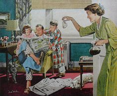1950s MAXWELL HOUSE Coffee vintage illustration advertisement by Christian Montone, via Flickr