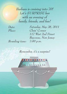 Cruise theme invitation jers bday pinterest cruises birthdays 25 personalized cruise theme party invitations ctif 03 beautiful day cruise stopboris Gallery