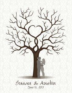 DIY Wedding Guest Book with Couple Silhouette  by CustombyBernolli, $18.00