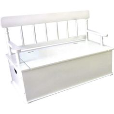 Simply Classic White Bench Seat w/ Storage Fab Style Kids Rooms http://fabstylekidsrooms.com/Bedrooms/Storage/Simply-Classic-White-Bench-Seat-w-Storage #storage #expecting