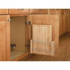 I like the idea of using doors. choices choices (A Kitchen Space Saver: The Door-Mount Cutting Board from Rev-A-Shelf — Small Space Living) Kitchen Pantry, New Kitchen, Kitchen Decor, Kitchen Ideas, Kitchen Small, Kitchen Cabinets, Small Kitchen Space Savers, Wall Cabinets, Kitchen Inspiration