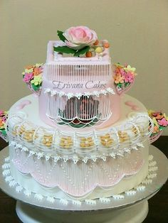 - various string work techniques on cake