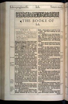 Job Chapter 1 Original 1611 Bible Scan, courtesy of Rare Book and Manuscript Library, University of Pennsylvania
