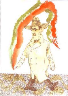 Fernando Pessoa diluído nas cores de Sábat