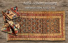 Antique hand knotted woolen carpet from Armenia. With age indicated: 1886. We ship worldwide. www.rugs.hu Armenia, Carpets, Bohemian Rug, Oriental, Ship, Age, Antiques, Gallery, Home Decor