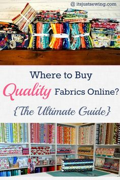 Finally, A Comprehensive list of Quality Online Fabric Shops just for you! Quality comes in so many forms. The type of fabric we buy and who we buy it from can make a huge difference to the outcome of our projects AND how we feel about those projects. Sewing Hacks, Sewing Tutorials, Sewing Patterns, Sewing Tips, Sewing Ideas, Quilt Patterns, Learn Sewing, Fabric Crafts, Sewing Crafts