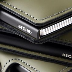 Matte green mini wallet from the new Spring/Summer collection 2016 • #Secrid