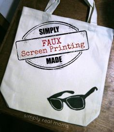 Try DIY faux screen fabric printing for easy custom bags, hats & more.