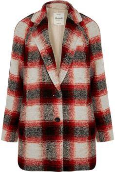 Madewell-plaid wool coat