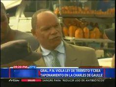 General P.N Viola Ley De Tránsito Y Crea Taponamiento En La Charles De Gaulle #Video