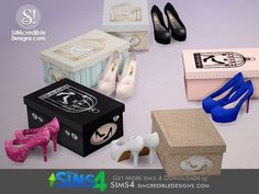 SIMcredible!'s Glory Shoes and box *decor*