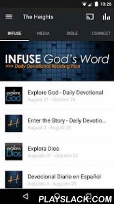 The Heights Baptist Church  Android App - playslack.com ,  Welcome to The Heights official application for Android devices.Check out The Heights Infuse Daily Devo, Bible Reading Plan, Sermon Series Video and more! After you've downloaded and enjoyed the content, you can share it with your friends via Twitter, Facebook, or email.For more information about The Heights, please visit: http://www.theheights.org/The Heights app was developed with the Subsplash App Platform.App: © 2014 The Church…