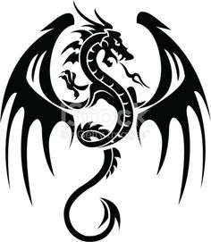 Dragon Tattoo is one of the most popular mystical tattoos. Like most other mythological tattoos, dragon tattoos are perceived in different ways by different cultures around the world. Dragon Tattoo Vector, Tribal Dragon Tattoos, Dragon Tattoo Designs, Eagle Tattoos, Celtic Tattoos, Bild Tattoos, Body Art Tattoos, Tattoo Drawings, Cool Tattoos