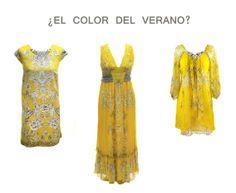 El amarillo, color de moda esta primavera verano 2014.